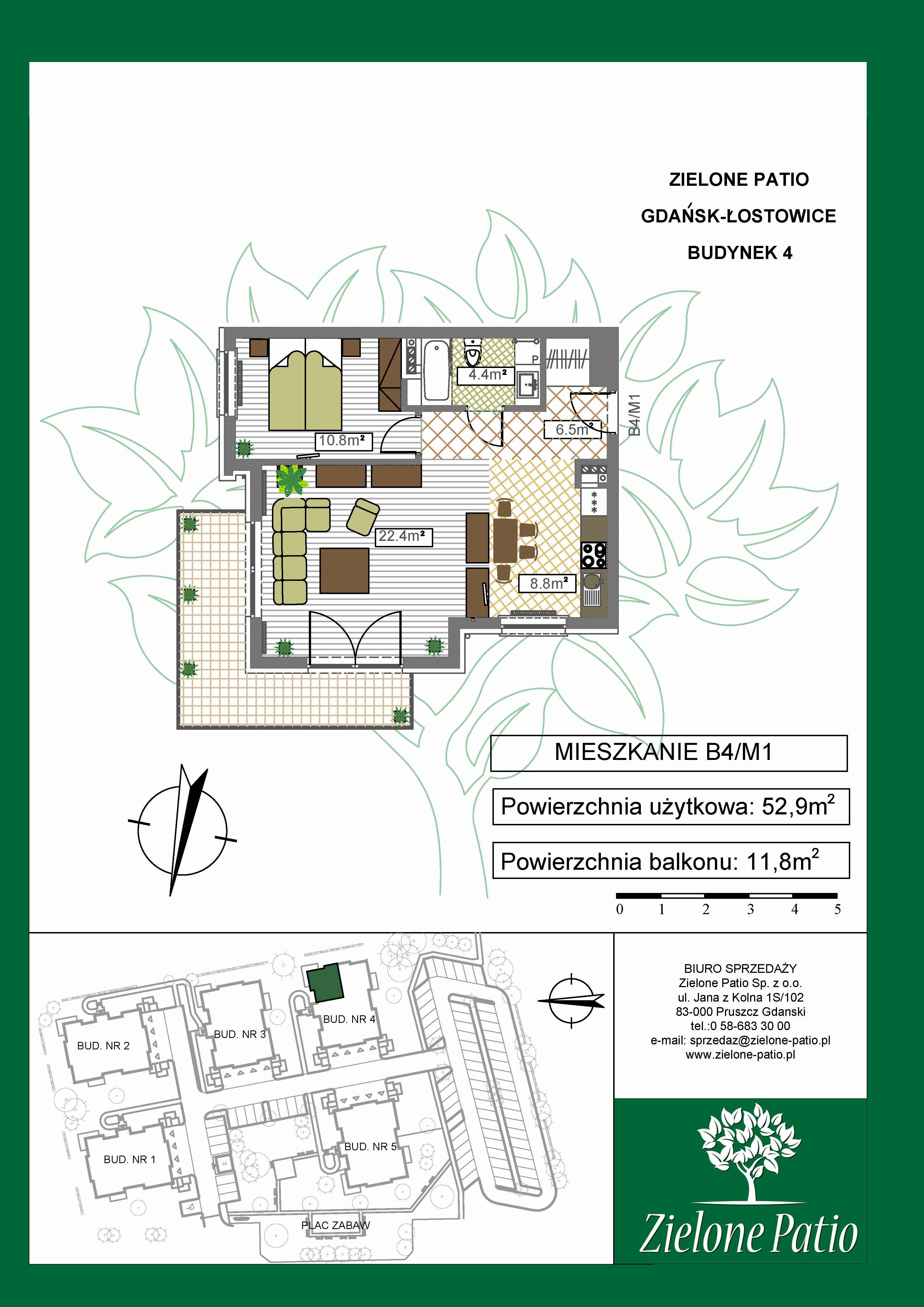 Plan M1 Zielone Patio, Budynek nr 4