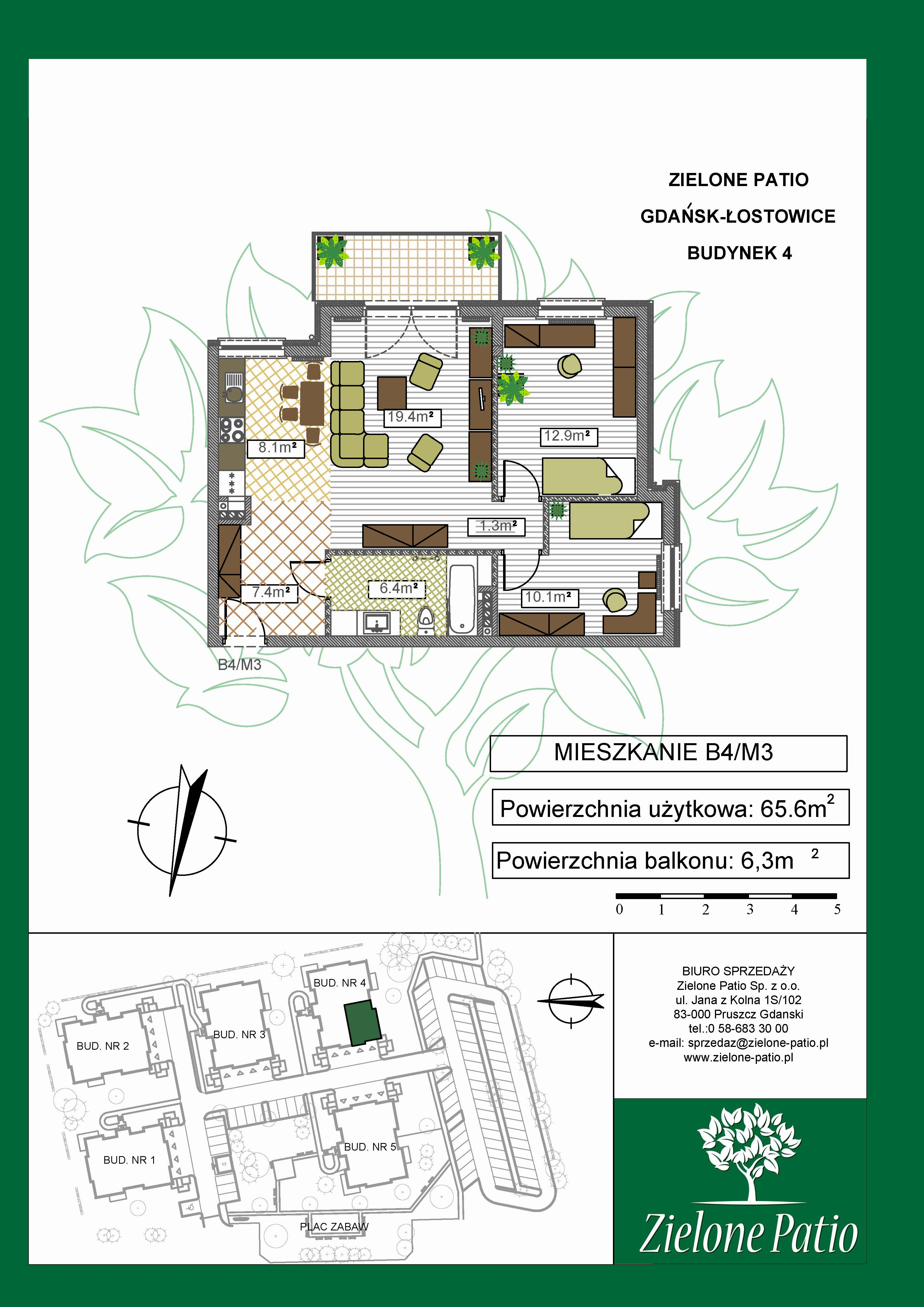 Plan M3 Zielone Patio, Budynek nr 4