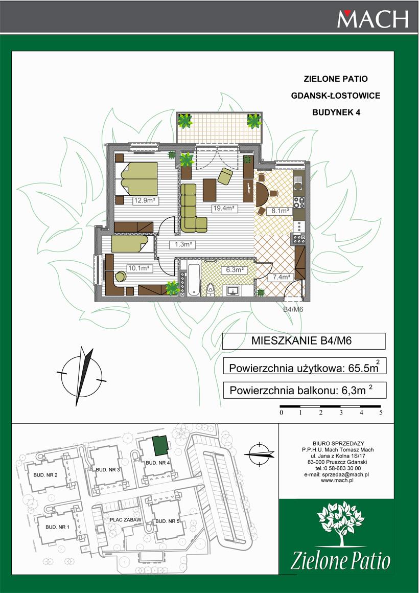 Plan M6 Zielone Patio, Budynek nr 4