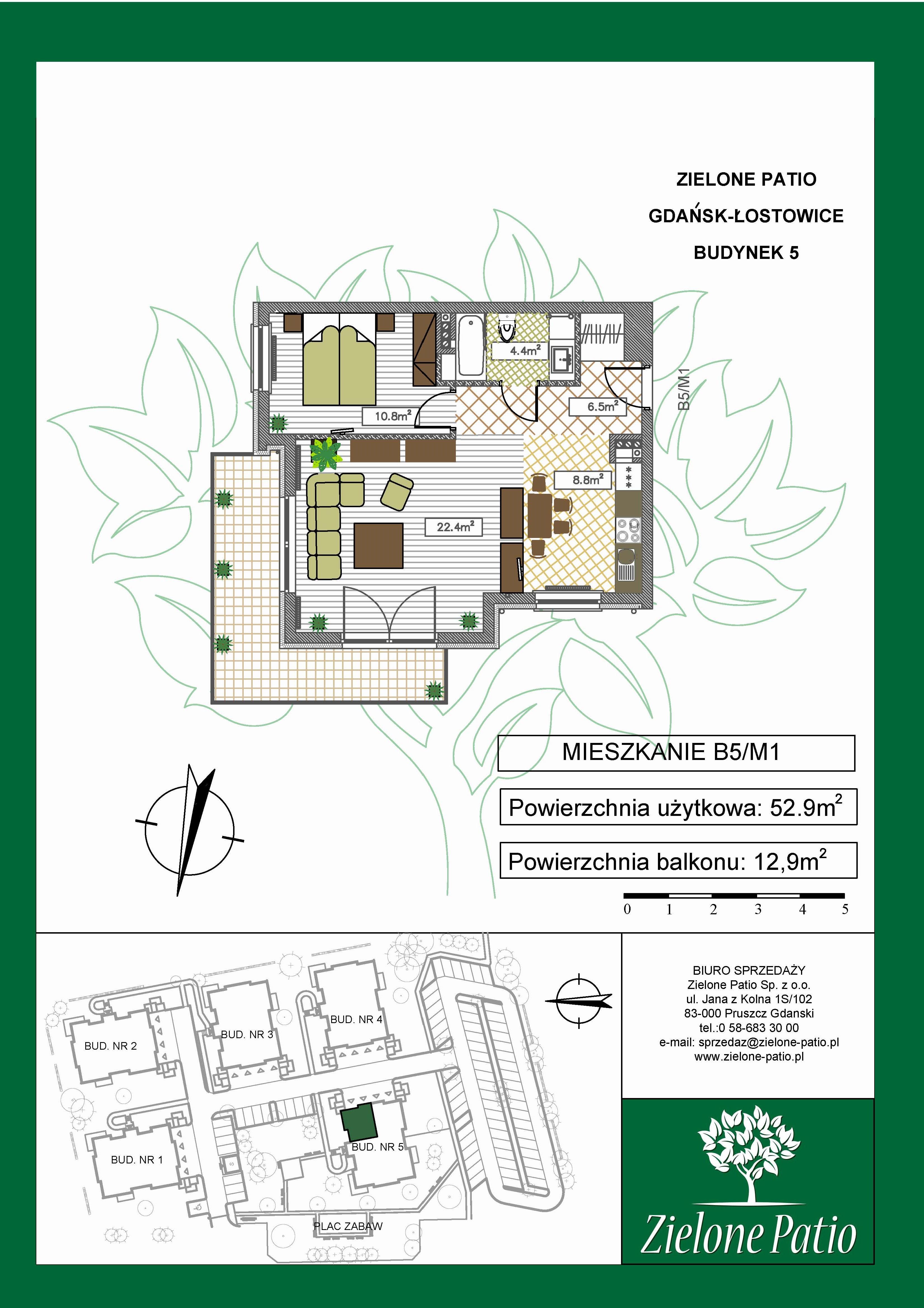 Plan M1 Zielone Patio, Budynek nr 5