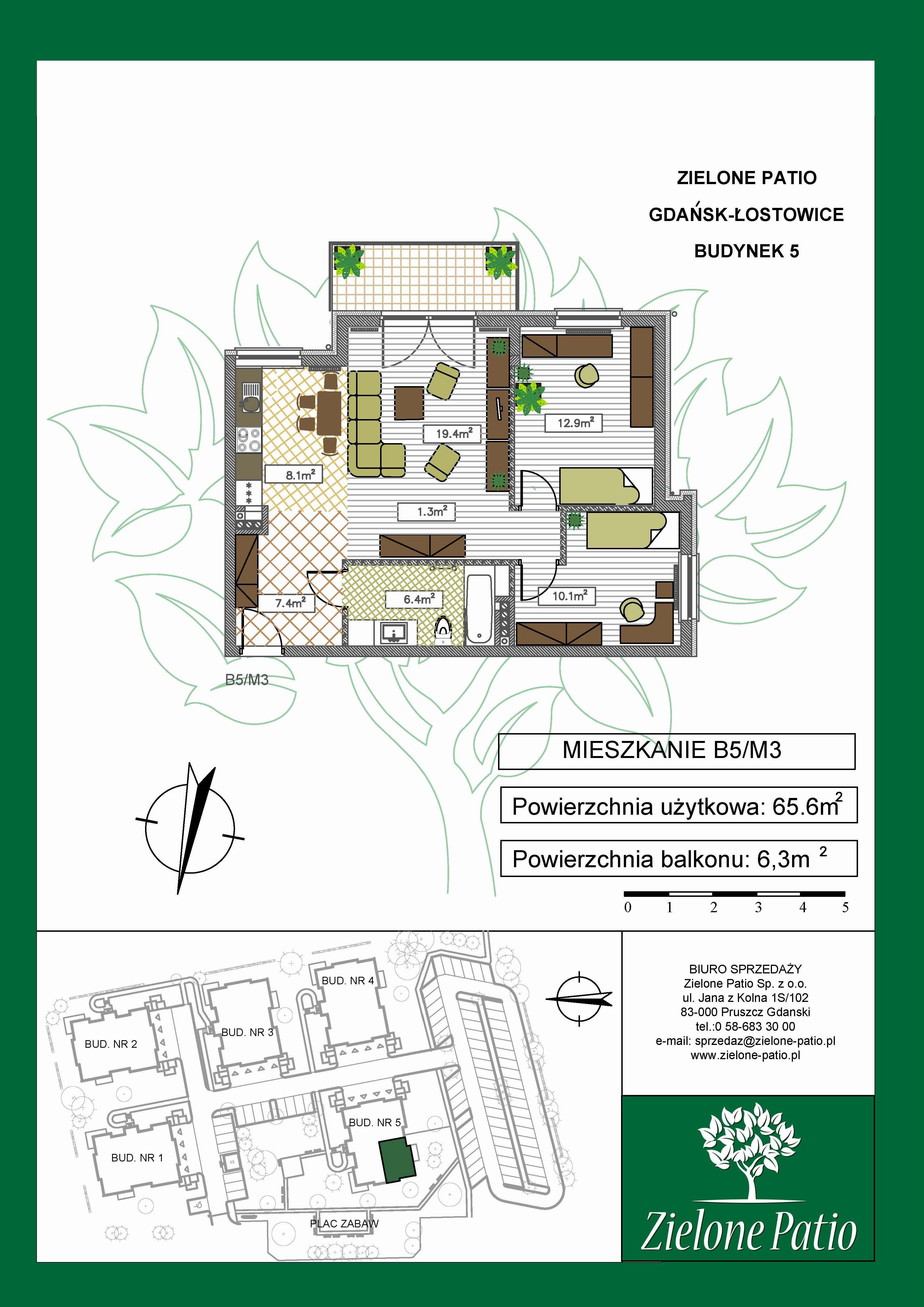 Plan M3 Zielone Patio, Budynek nr 5
